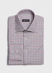 Spread Collar Tattersall Shirt, thumbnail 1