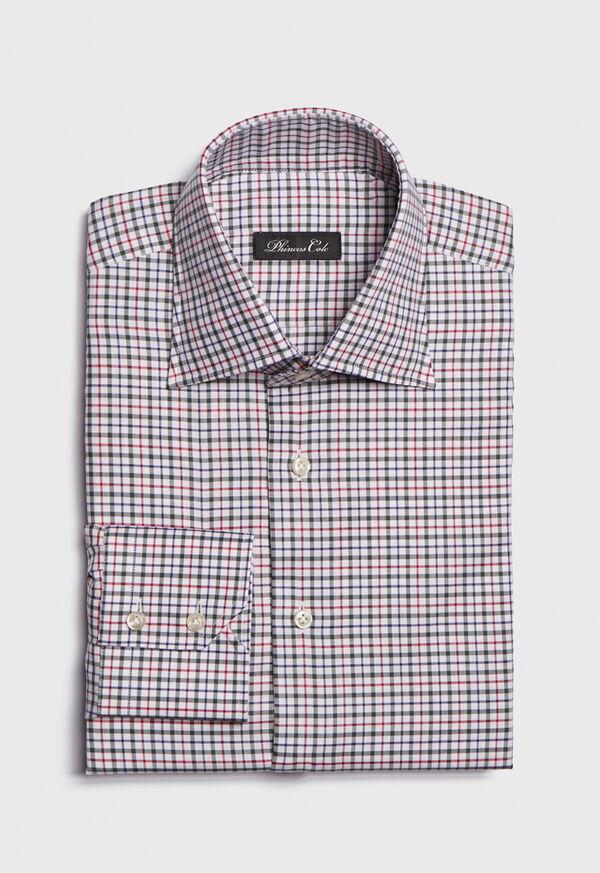 Spread Collar Tattersall Shirt, image 1