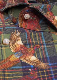 Pheasant Plaid Brushed Cotton Shirt, thumbnail 2