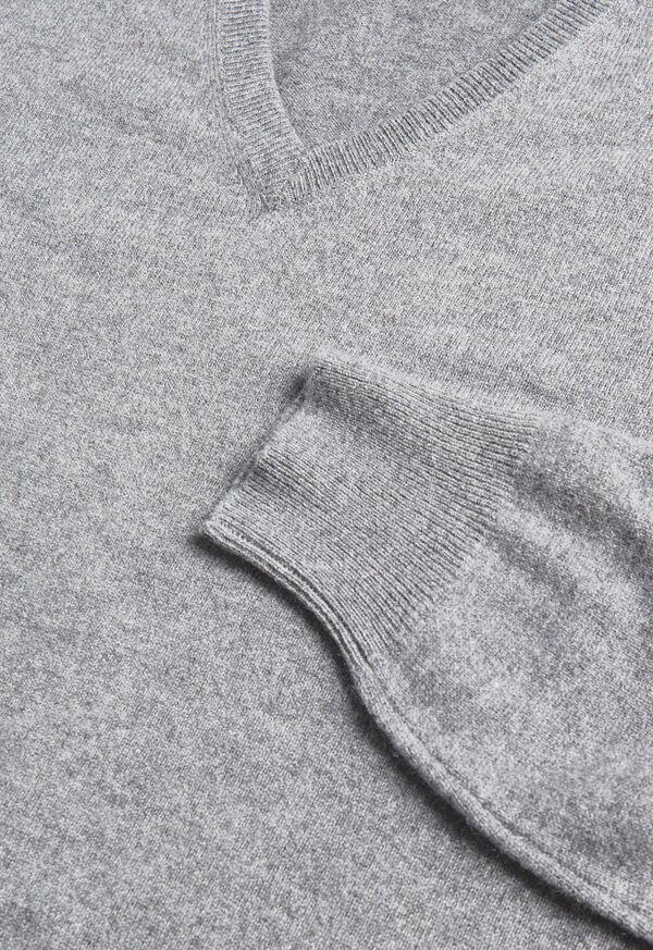 Lightweight Cashmere V Neck Sweater, image 2