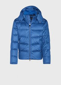 Cashmere Quilted Down Puffer Jacket, thumbnail 1