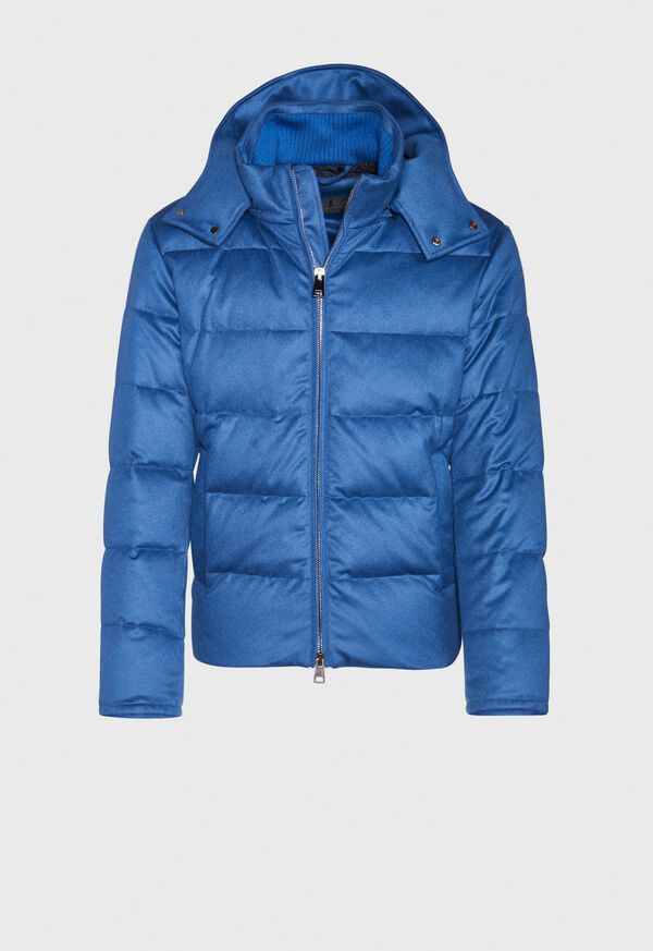 Cashmere Quilted Down Puffer Jacket