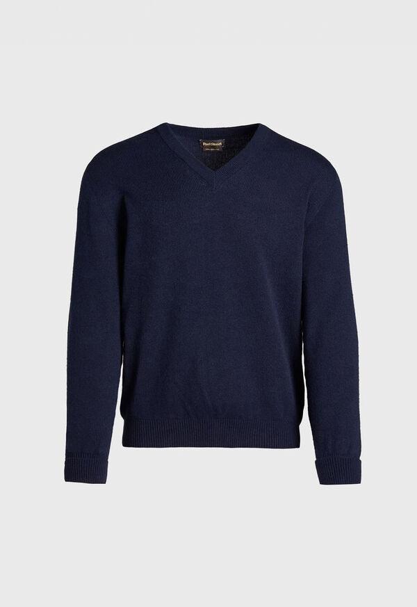 Scottish Cashmere V-Neck Sweater, image 6