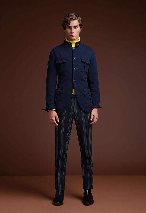 Navy Nehru Knit Jacket, image 2