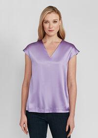 Silk Cap Sleeve Top, thumbnail 2