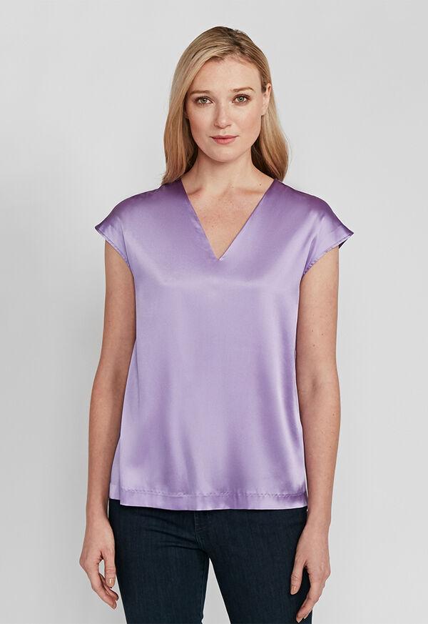 Silk Cap Sleeve Top, image 2