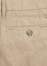 Khaki Linen Blend Short, thumbnail 3