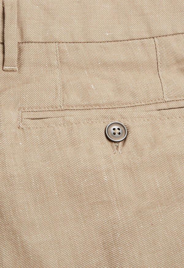 Khaki Linen Blend Short, image 3