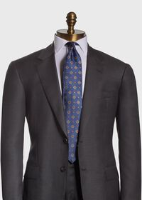 Textured Ground and Royal Square Silk Tie, thumbnail 2