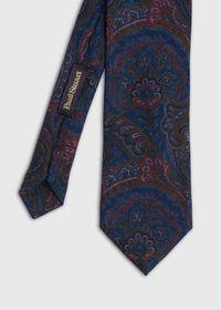 Wool Printed Paisley Tie, thumbnail 1