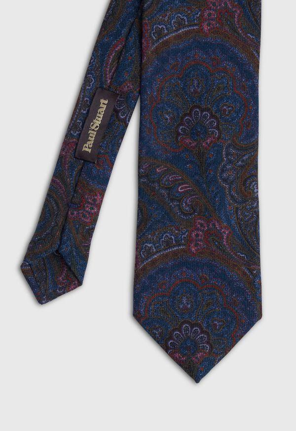 Wool Printed Paisley Tie, image 1
