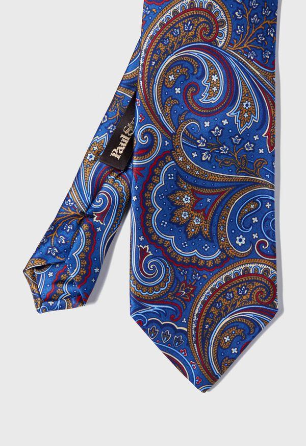 Paisley Print Satin Tie, image 1