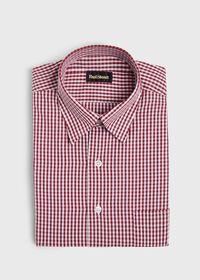 Gingham Cotton Sport Shirt, thumbnail 1