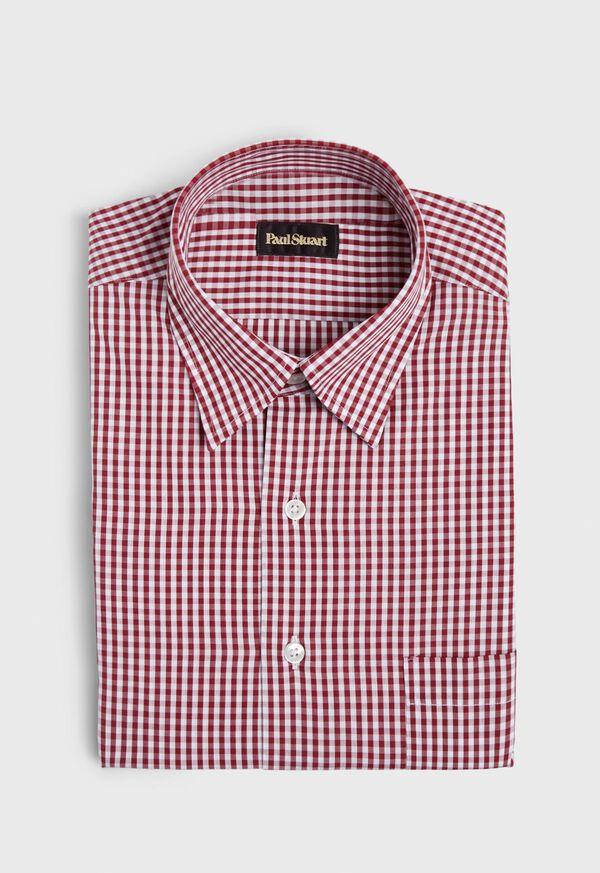 Gingham Cotton Sport Shirt, image 1