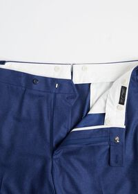 Solid Mid Blue 120s Pant, thumbnail 2