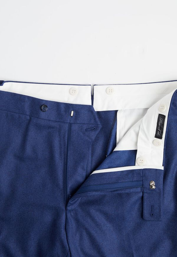 Solid Mid Blue 120s Pant, image 2