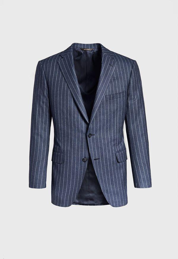 Paul Fit Chalk Stripe Super 120s Wool Suit, image 3
