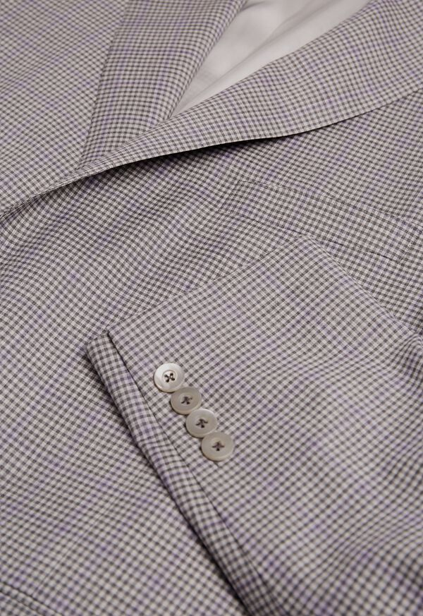 Grey Check with Lilac Windowpane Sport Jacket, image 2