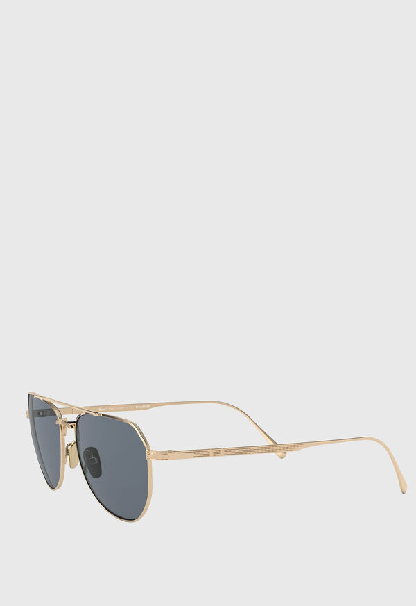 Persol's Gold Aviator Sunglasses, image 2