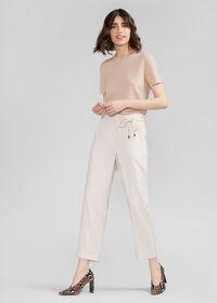 Linen Pant with Grossgrain Belt, thumbnail 2