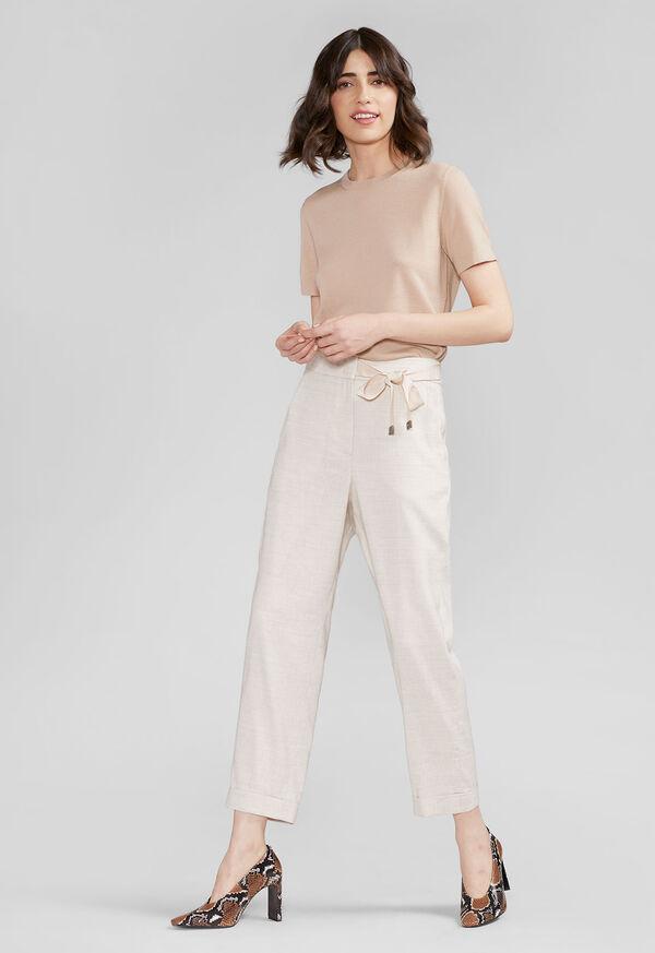 Linen Pant with Grossgrain Belt, image 2