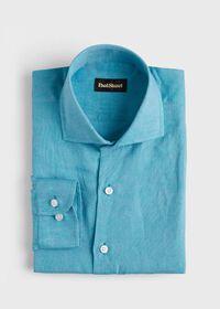 Solid Linen Sport Shirt, thumbnail 1