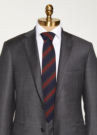 Wool Blend Stripe Tie, thumbnail 2