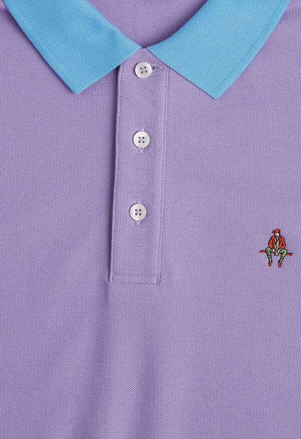 Tri-Color Cotton Pique Logo Polo, image 2