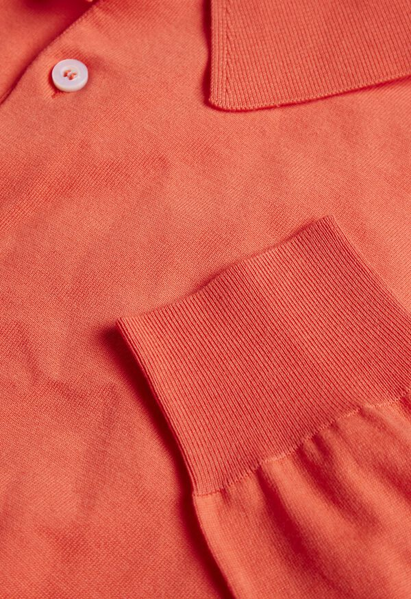 Long Sleeve Cotton Polo, image 3