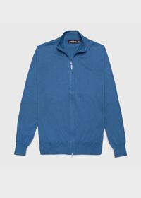 Cotton Full Zip Cardigan, thumbnail 1