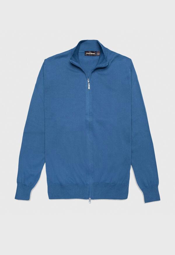 Cotton Full Zip Cardigan, image 1