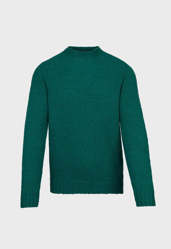 Wool Blend Boucle Crewneck Sweater, image 1