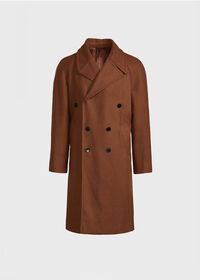 Double Breasted Wool Overcoat, thumbnail 1