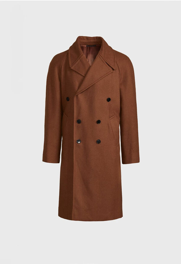 Double Breasted Wool Overcoat, image 1