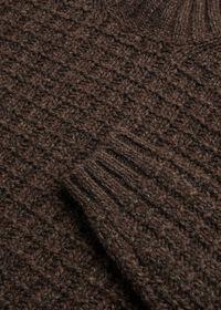 Patterned Mock Neck Sweater, thumbnail 2