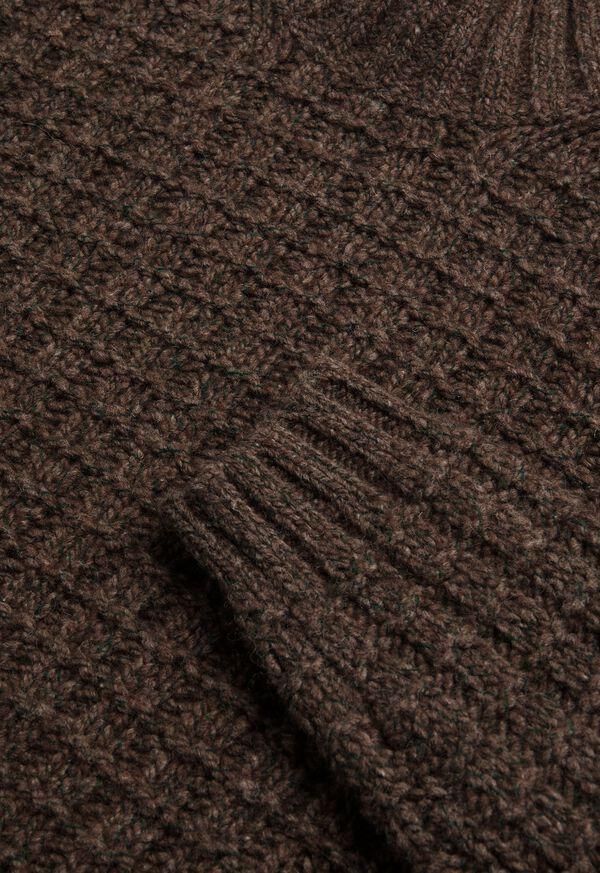 Patterned Mock Neck Sweater, image 2