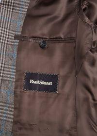 Phillip Fit Mink Plaid Wool Suit, thumbnail 5