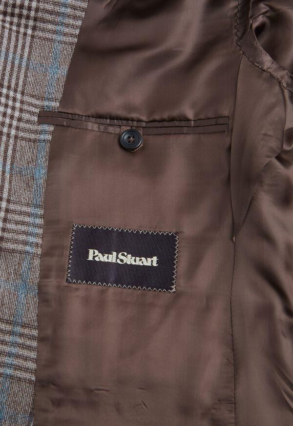 Phillip Fit Mink Plaid Wool Suit, image 5