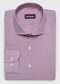 Cotton Mini Check Sport Shirt, thumbnail 1