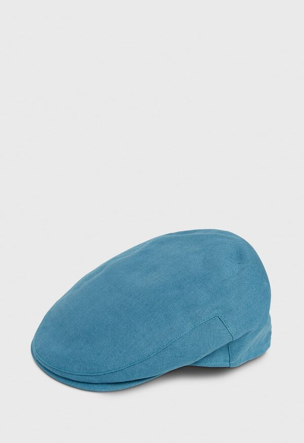 Irish Linen Solid Flat Cap, image 1