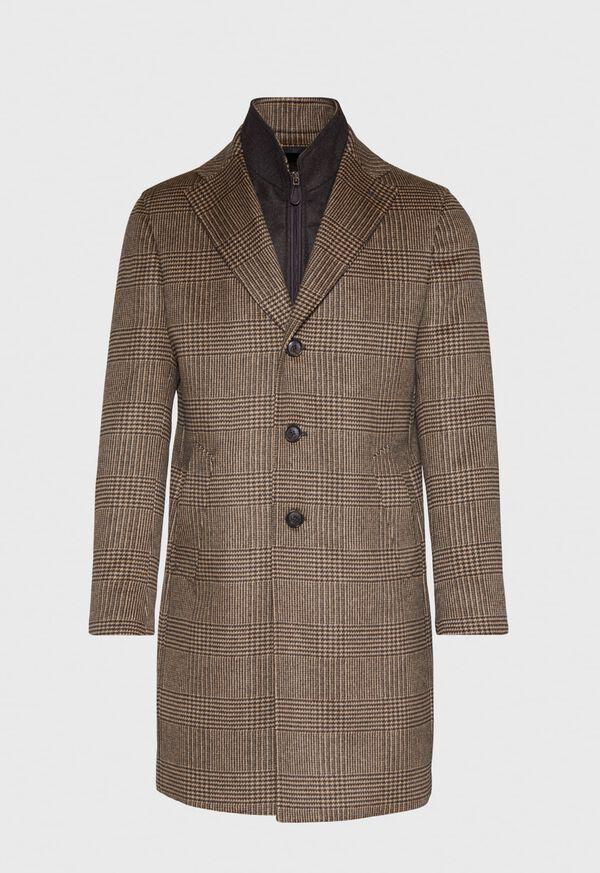 Plaid Coat with Zip-Out Vest, image 1