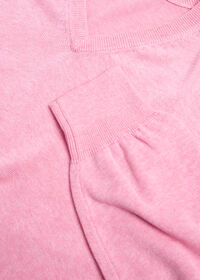 Pima Cotton V-Neck Sweater, thumbnail 2