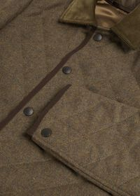 Quilted Loden Barn Jacket with Corduroy Collar, thumbnail 2