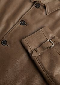 Distressed Leather Coat, thumbnail 2