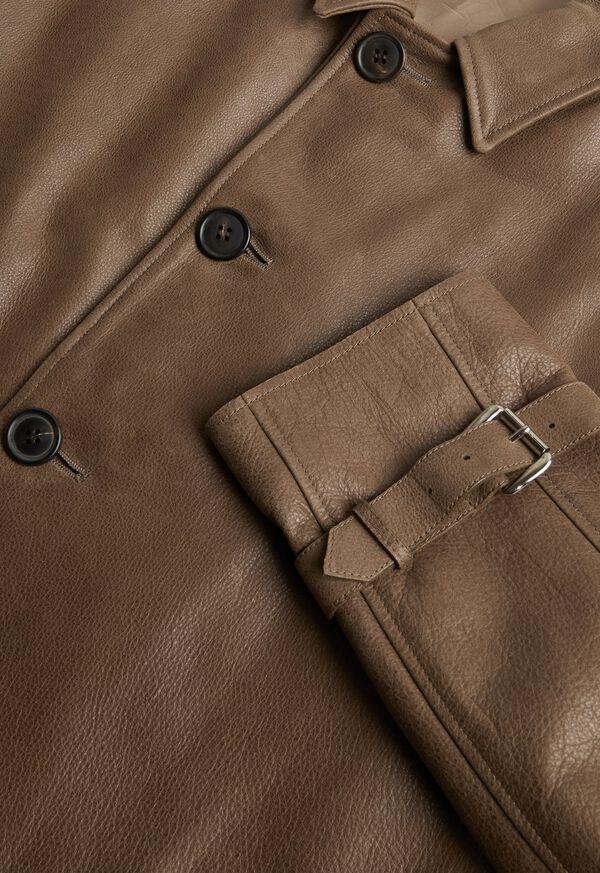 Distressed Leather Coat, image 2