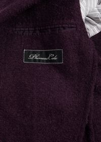 Solid Crimson Fuzzy Soft Jacket, thumbnail 3