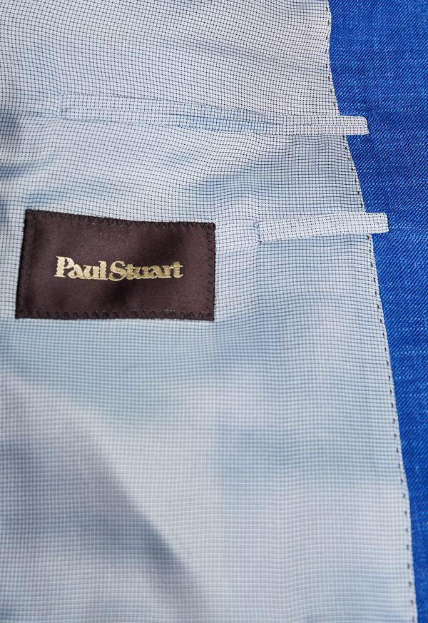 Royal Blue Solid Soft Jacket, image 3