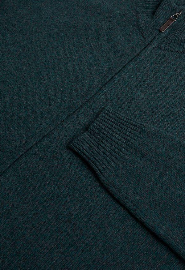 Full Zip Moulinee Cardigan, image 2