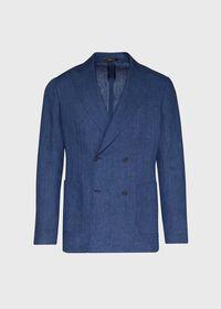 Blue Linen Jacket, thumbnail 1