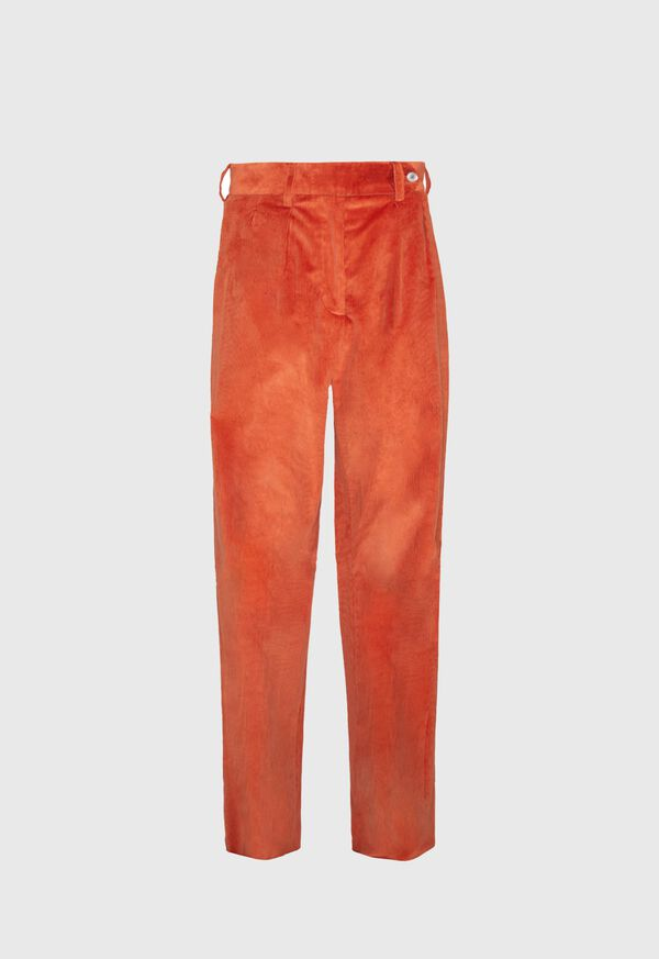 Pleated Corduroy Trouser, image 1